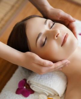 Massage visage et nuque à l'élixir précieux praliné 30 minutes